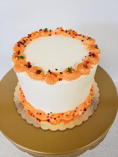 Fall Decorated Vanilla Cake