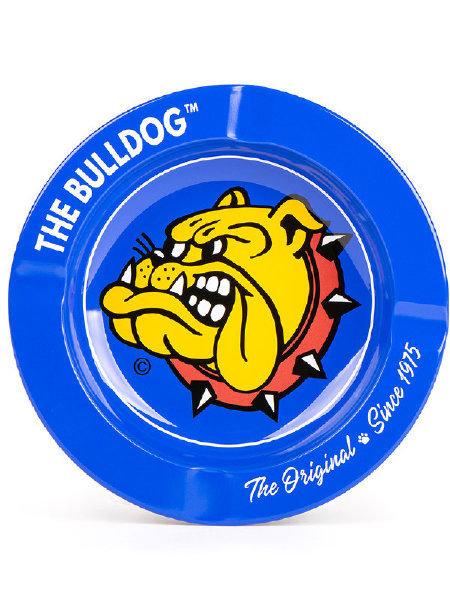 The Bulldog Printed Metal Ashtray Blue