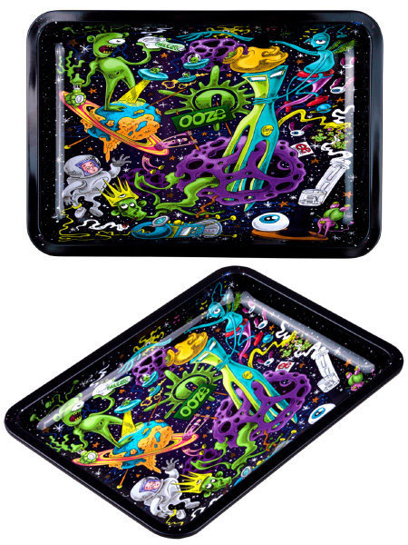 Ooze Universe Travel Size Metal Rolling Tray US Import