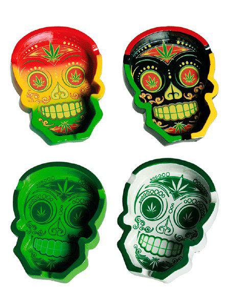 Cannabis Sugar Skull Ashtray