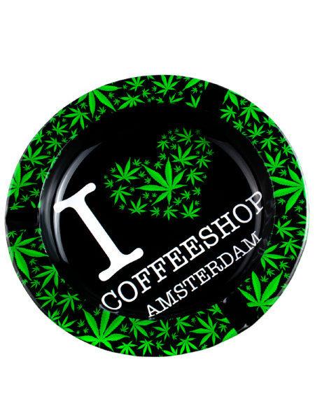I Love Coffeeshop Amsterdam Metal Ashtray