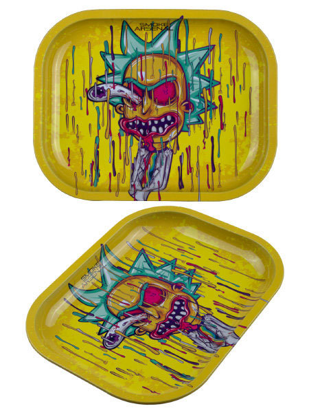 Smoke Arsenal Splatter Rick Mini Metal Rolling Tray
