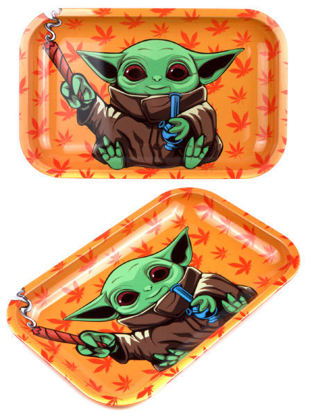 Smoke Arsenal Yoda Bomb Small Metal Rolling Tray