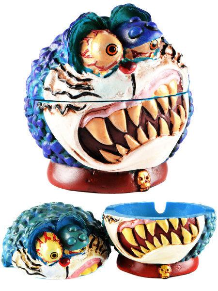 Blue Monster Ceramic Ashtray