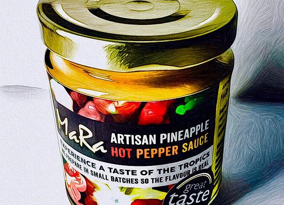 Pineapple hot pepper sauce