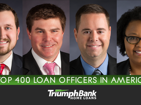 Four Triumph Loan Officers Rank Among the Nation's Top Producers