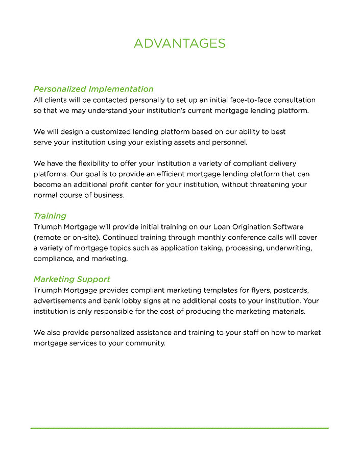 Information | TPO Lending | Triumph Mortgage