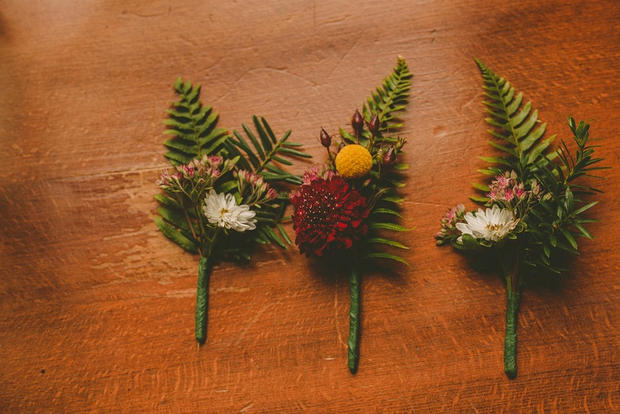 woodsy boutonnieres
