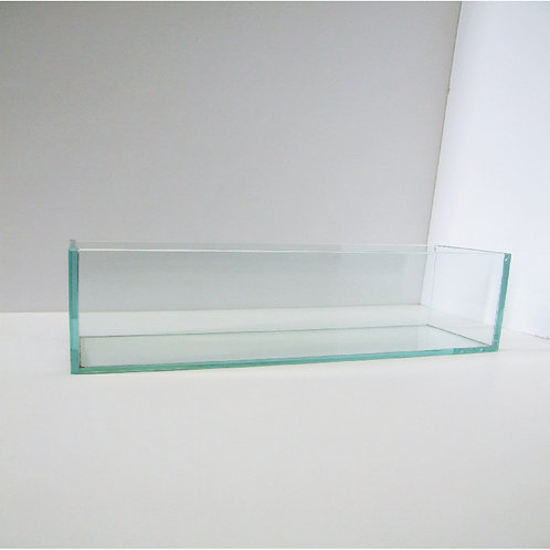 Flat Clear Glass Vase - V-4424