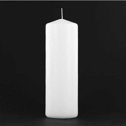 "9"" White Pillar Candle - PC309"