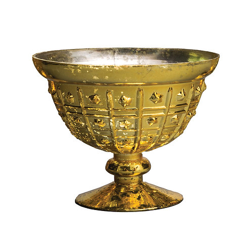 Gold Medium Dotted Mercury Bowl - AHG0806G