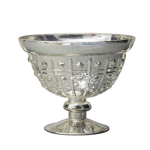 Silver Medium Dotted Mercury Bowl - AHG0806S