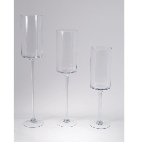 "Glass Pillar Candle Holder 28"" - LCH28"