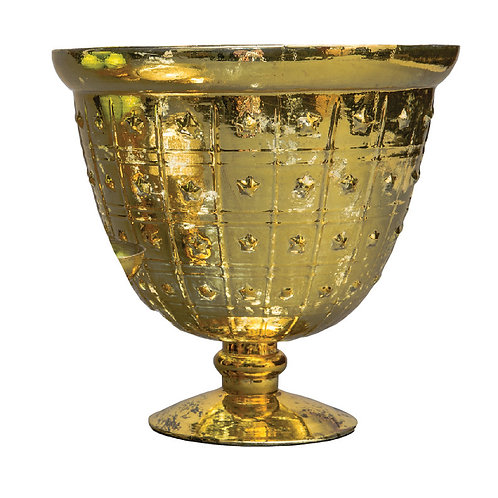 Gold Large Dotted Mercury Bowl - AHG1009G