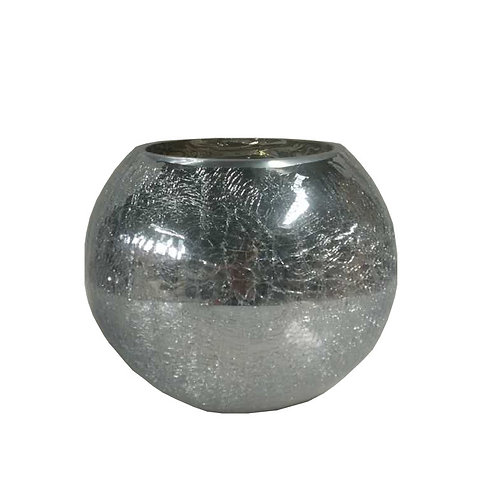 Silver Crackle Mercury Bowl