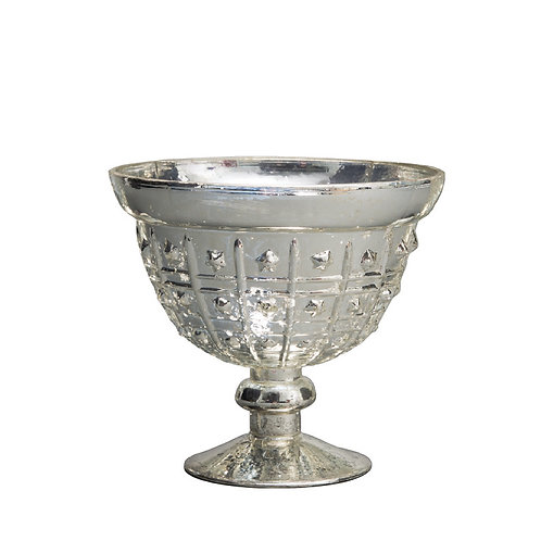 Silver Small Dotted Mercury Bowl - AHG0605S