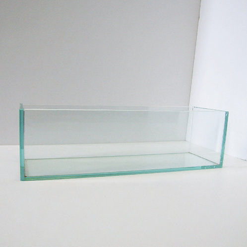 Flat Clear Glass Vase - V-4420