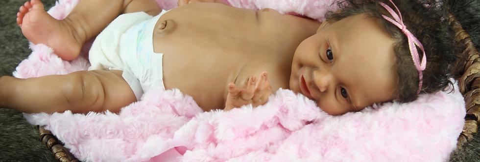 Sunny by Joanna Kazmierczak Happy Beautiful Reborn Baby Doll AA Biracial Ethnic