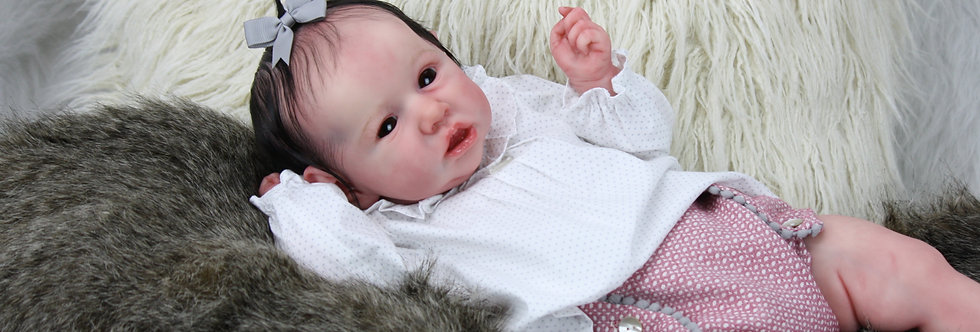 Reborn Baby Saskia Sculpted & Signed by Bonnie Brown