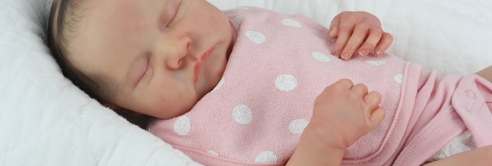 Reborn Baby LEVI by Bonnie Brown with Painted Hair Ready to Ship!