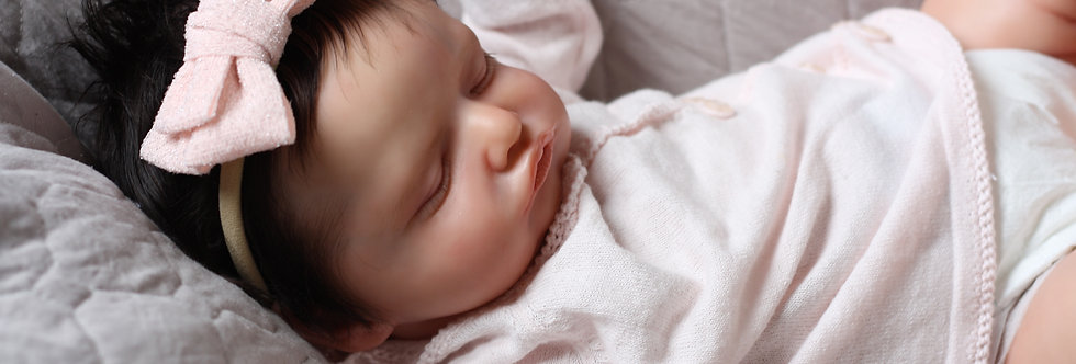 Reborn Baby Rosalie by Olga Auer Beautifully Sculpted with Hair Ready to Ship