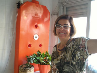 Reaproveitar água em apartamentos é possível: Mazé Ribas, cliente Waterbox