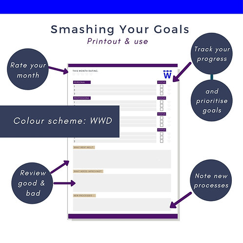 Smashing Your Goals Print out