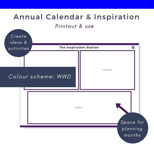 Annual Calendar & Inspiration Station