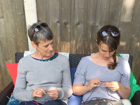 Raising awareness of ovarian cancer through the power of knitting!