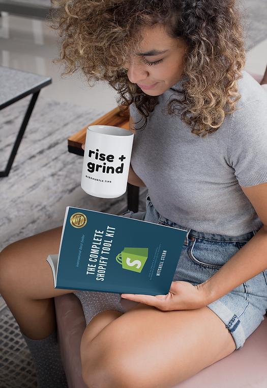 Woman reading tool kit with mug.png
