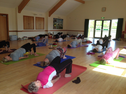Retreat day Hatha yoga