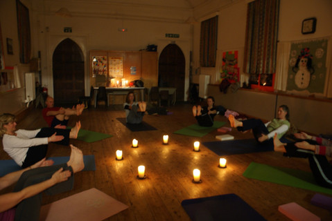 Candle lit classes in winter months