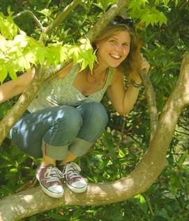 Ruth Bush up a tree