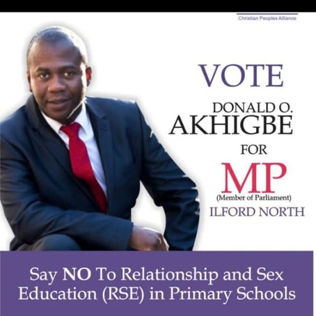 60 Seconds With Donald Akhigbe, MP Contestant for Ilford North