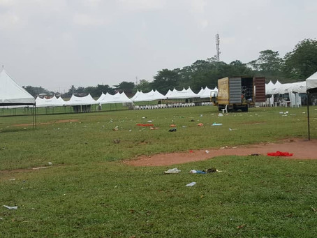 *Purported 'APC Mega Rally' flops, venue deserted* (This Afternoon)