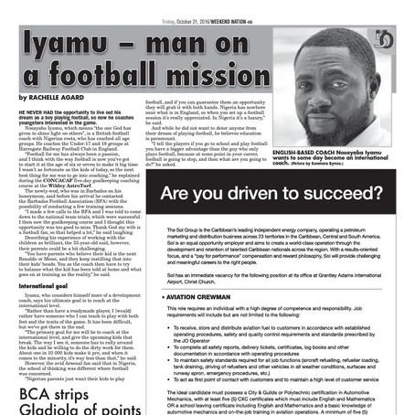 IYAMU - Edo Man on a Football Mission