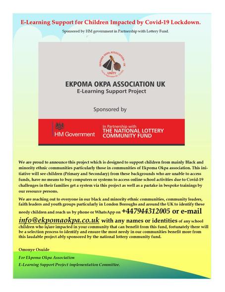 The Immigration Impact of Covid 19 in the UK Black Ethnic Communities & The Edo Association Maki