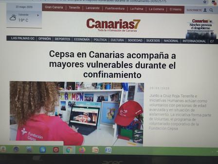 Empleados de Cepsa Canarias colaboran con Iniciativas Humanas y Cruz Roja en acompañamiento online