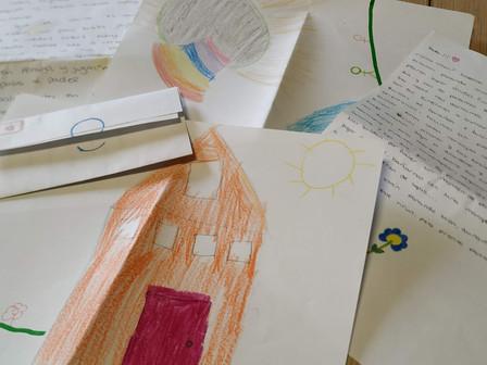 Envío de cartas y dibujos a los mayores del CSS El Pino y Nª Señora de la Candelaria