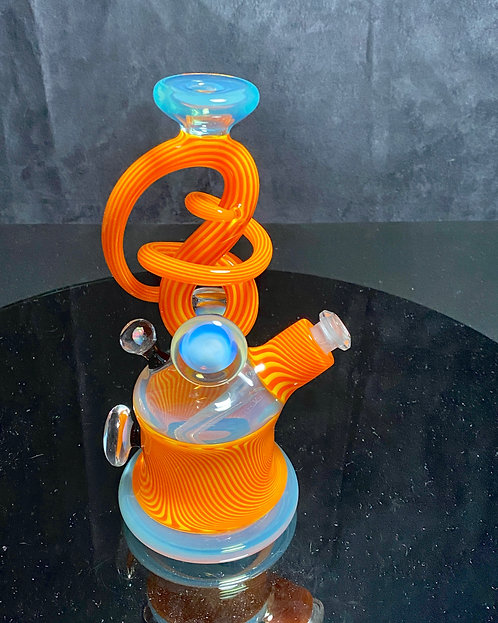 Cambria Glass Heavy Linework Swirl 10mm Rig