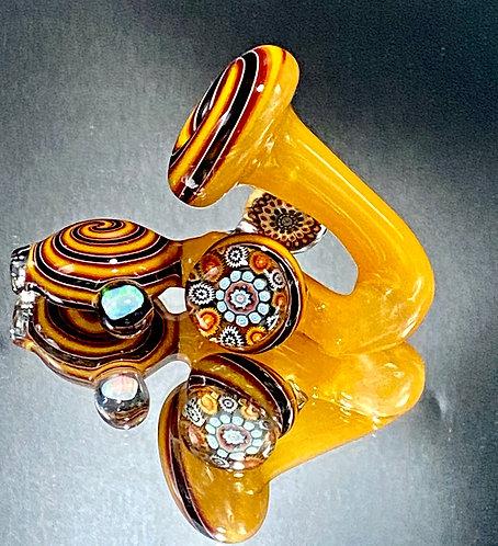 Global Glassworks Yellow/Fire Weiss Heady w/ Millie & Opal