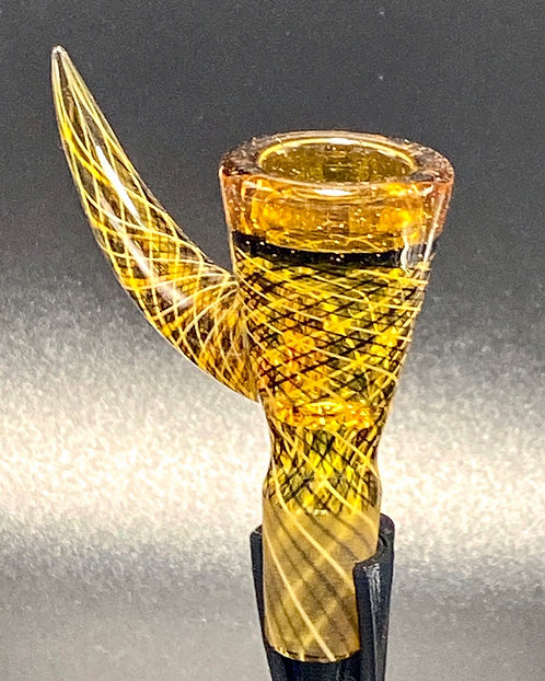 FULLY WORKED JOINT J-Honey Glassworks 14mm Reticello w/ Lip Wraps & Encalmo