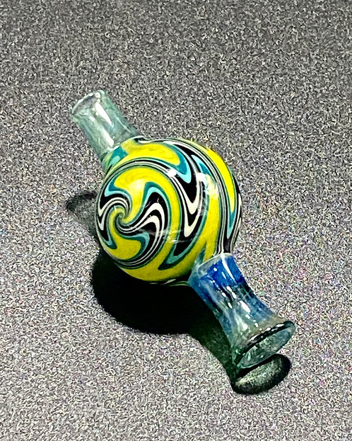 Pajay Glass Worked Bubble Cap Blue