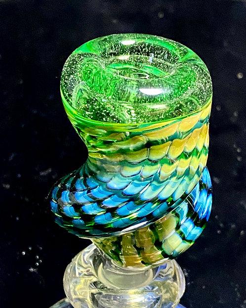 Dosh World 14mm Twisted Fumed Slide Green