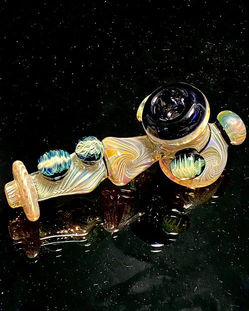 Jhanny Rise Fully Worked Silver/Gold & Black Fumed Dry Hammer