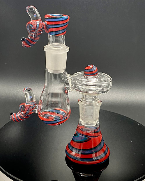 Dippy Glass 18mm Matching Dry Catch Set