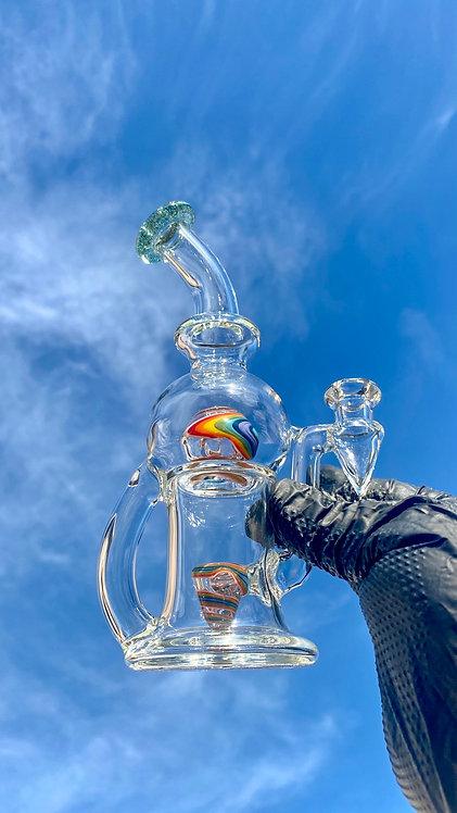 Tube Sock Glass Hustle Brain Bubbler Wig Wag Ball #2