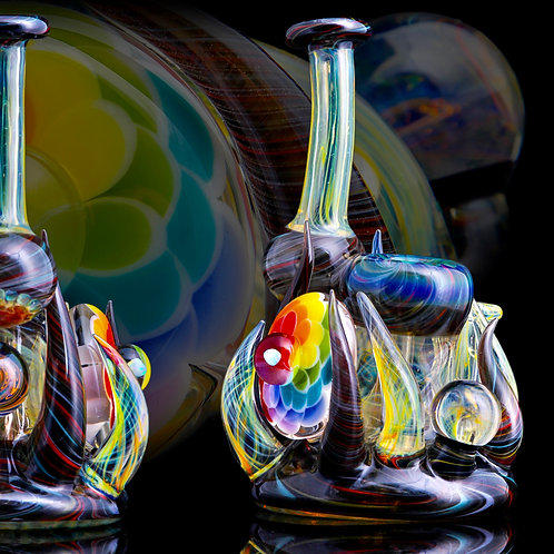 B $ x Hot Mess Glass Collab - Fully Worked Push Bubbler
