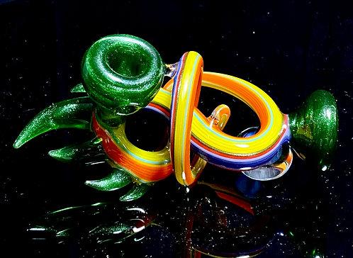 Cambria Glass Green Swirl Spoon