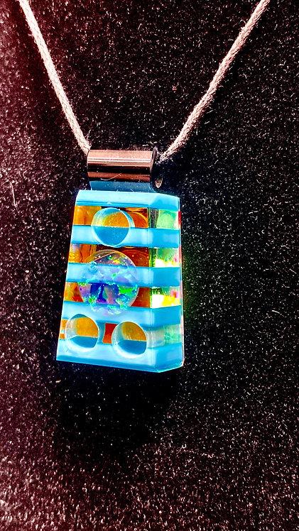 Boro Barto Blue Cut Pendadnt with Opal
